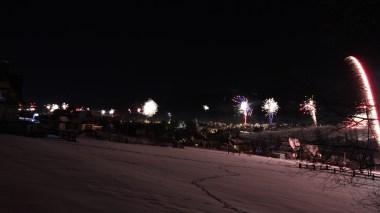 Fireworks across all of Zakopane