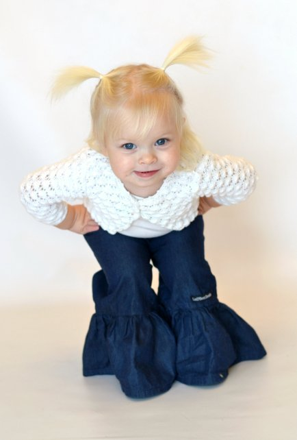 Denim Ruffle Pants (TrinRose Photography)