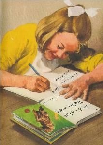Jane writing