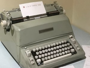 Typewriter and letterhead