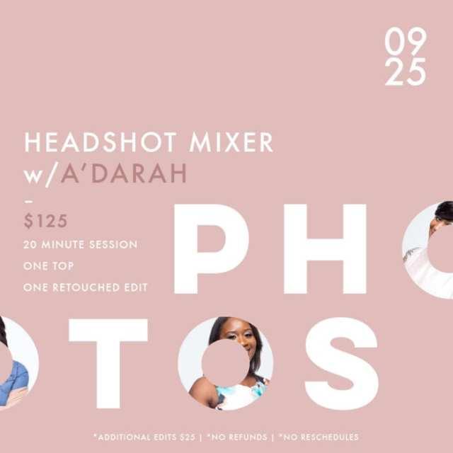 Headshot mixer flyer