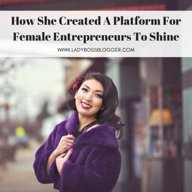 Female entrepreneur lady boss blogger Elaine Rau promoter