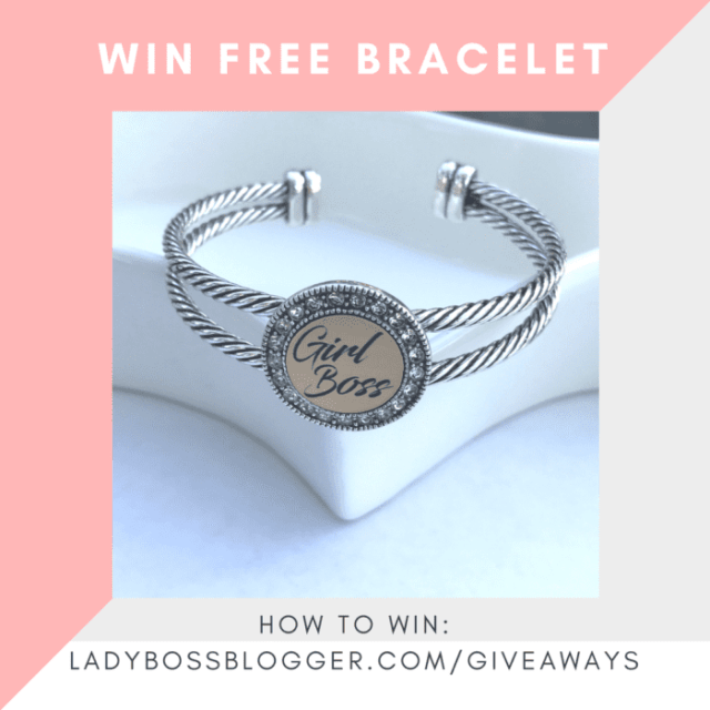 Giveaways on ladybossblogger WIN FREE BRACELET