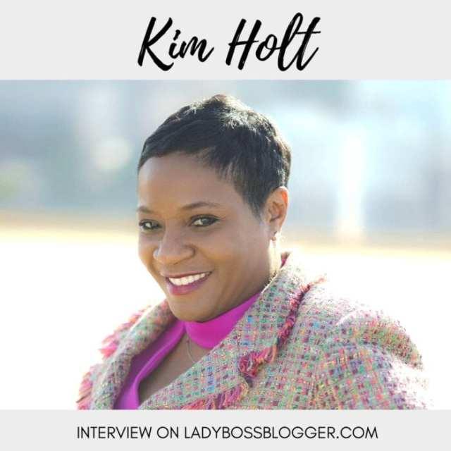 Female entrepreneur lady boss blogger Kim Holt