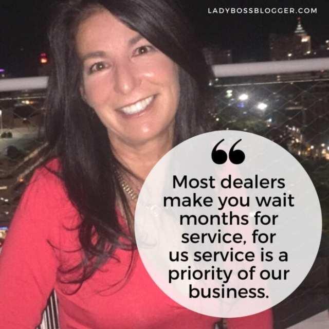 Female entrepreneur lady boss blogger Gigi Stetler RV Recreational Vehicle Sales