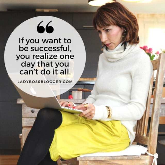 """Female entrepreneur lady boss blogger Tsitaliya Mircheva online magazine """"If you want to be successful, you realize one day that you can't do it all."""""""