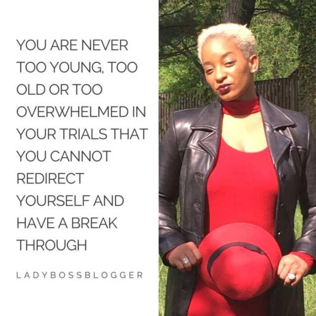 Female entrepreneur lady boss blogger K. Fatimah Woolfolk life coach