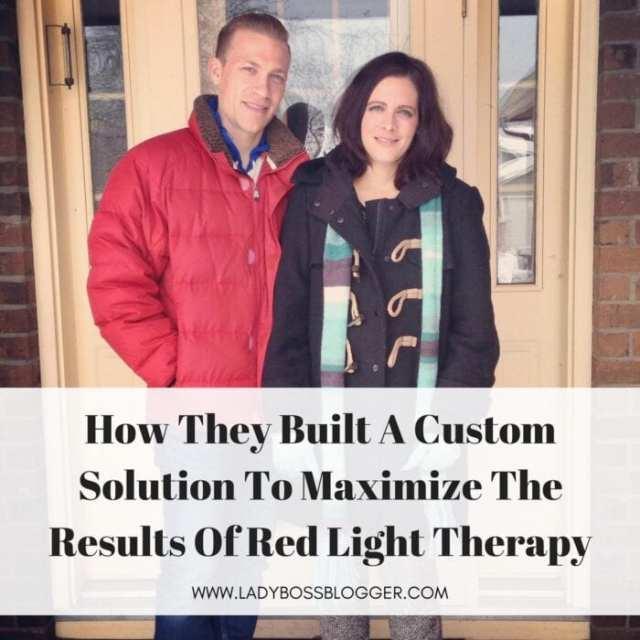 Female entrepreneur lady boss blogger Melissa Strahan Red & Infrared Light Therapy