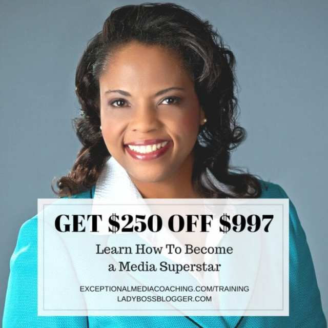 Female entrepreneur lady boss blogger Monica Davis publicity promoter