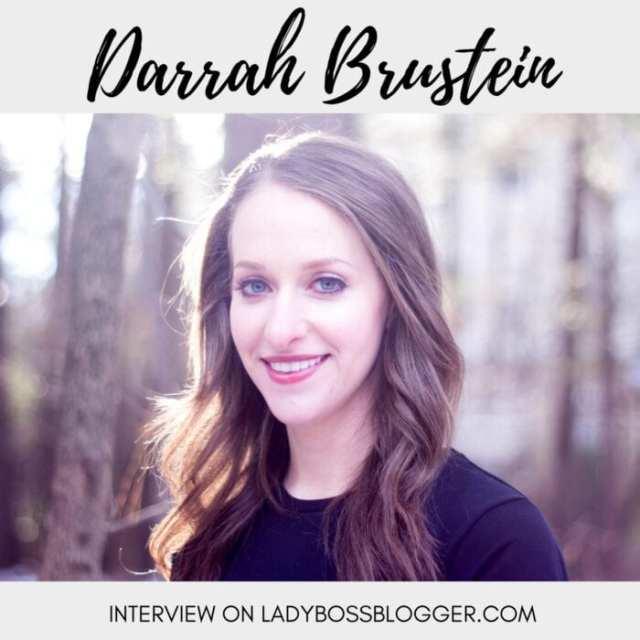 Female entrepreneur lady boss blogger Darrah Brustein merchant service industry