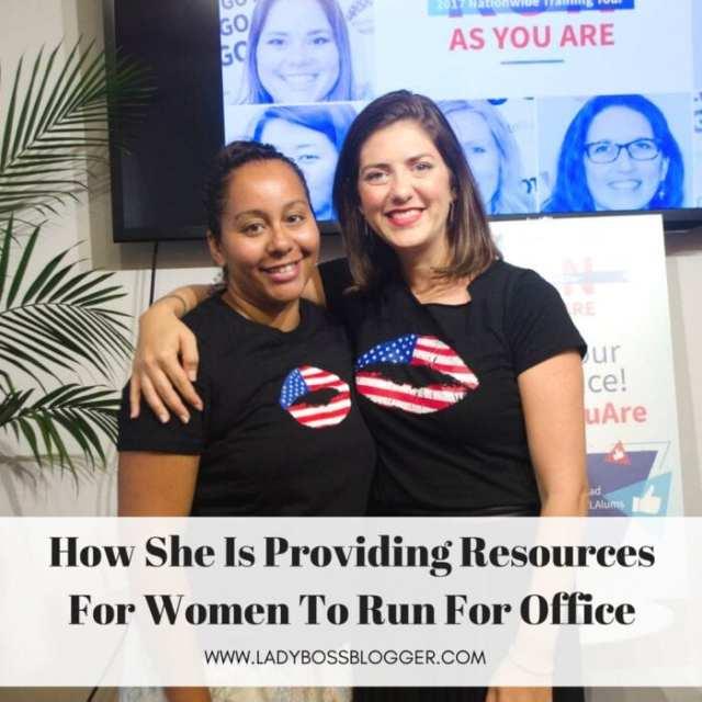 Female entrepreneur lady boss blogger Erin Vilardi women in politics
