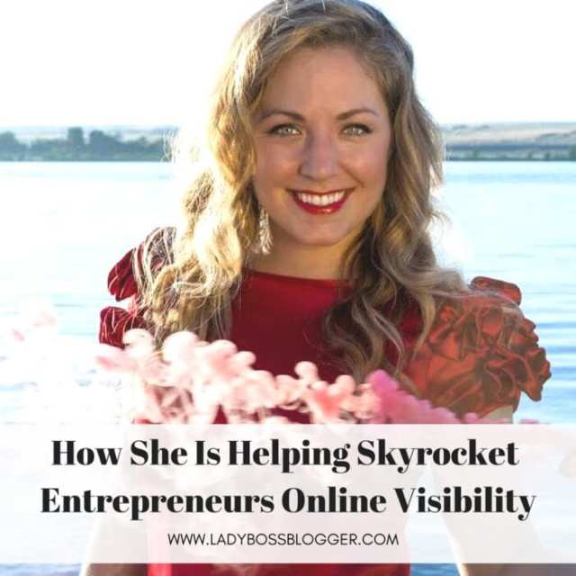 Female entrepreneur lady boss blogger Michelle Lewis The Visibility Vixen