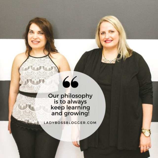 Female entrepreneur lady boss blogger Paula & Shannon public relations marketing