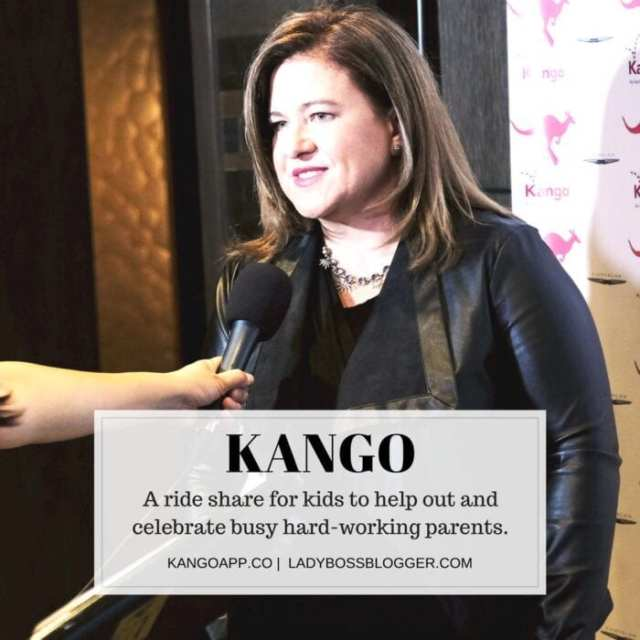 Female entrepreneur interview on ladybossblogger Sara Schaer rideshare app for kids called kango