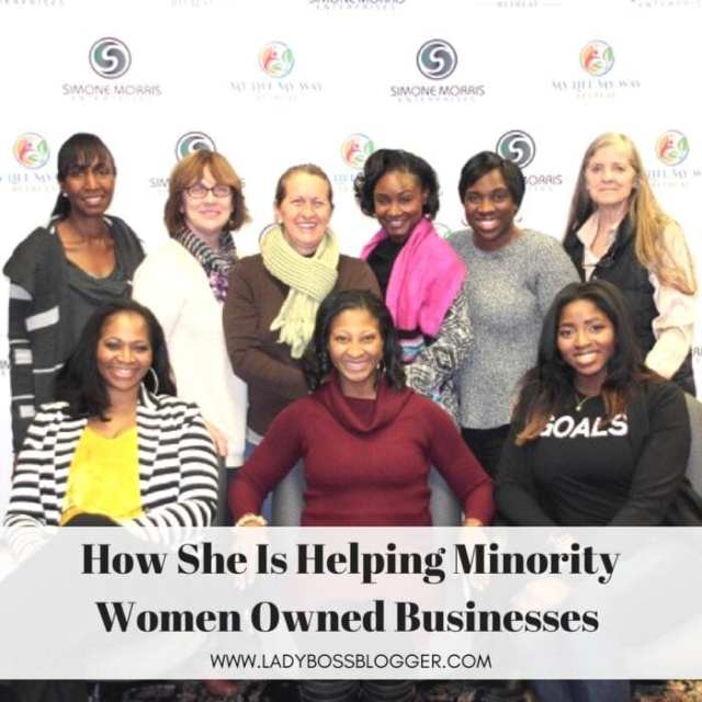 Female entrepreneur interview on ladybossblogger Simone Morris minority owned woman business resources