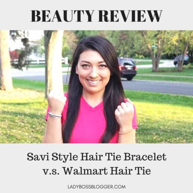 Savi Style Hair Tie Bracelet review on ladybossblogger written by Elaine Rau