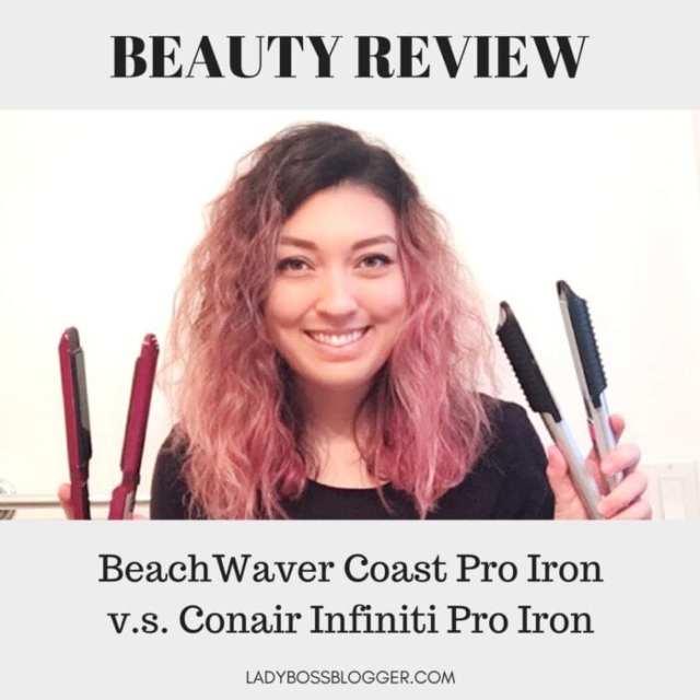 BeachWaver CoastPro Ceramic Styling Iron review on ladybossblogger written by Elaine Rau