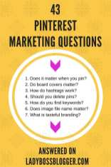 43 Most Asked Pinterest Marketing Questions Answered Directly By Pinterest on ladybossblogger