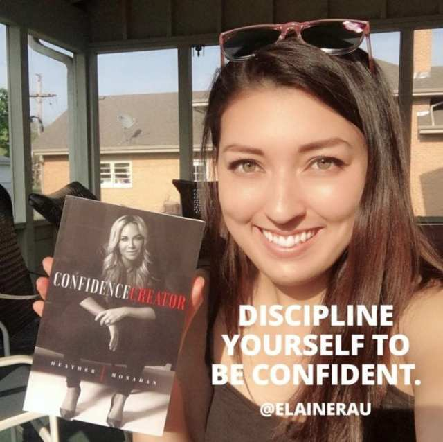 Elaine Rau with Confidence Creator written by Heather Monahan