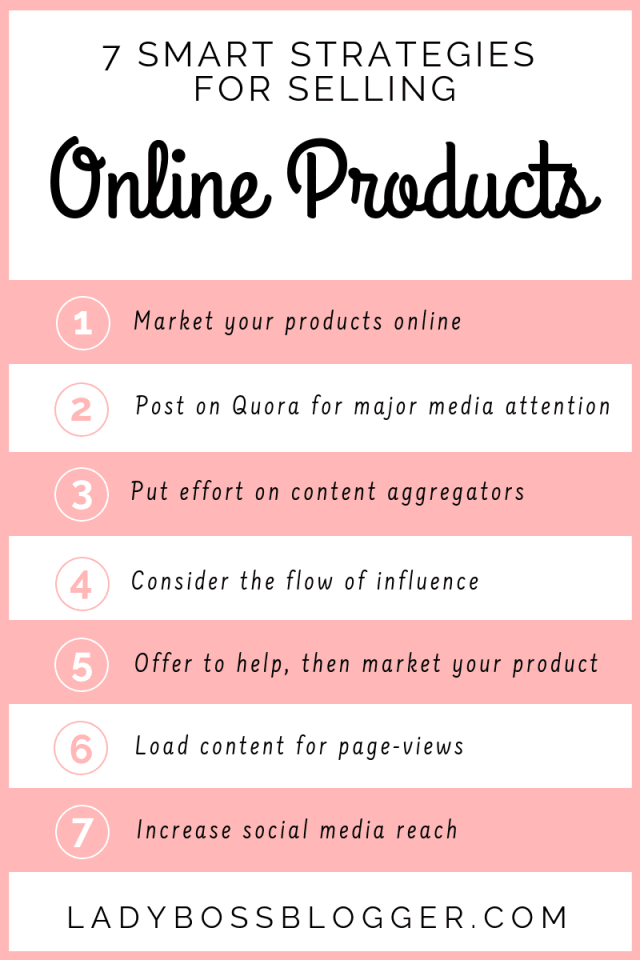 7 Smart Strategies For Selling Products Online