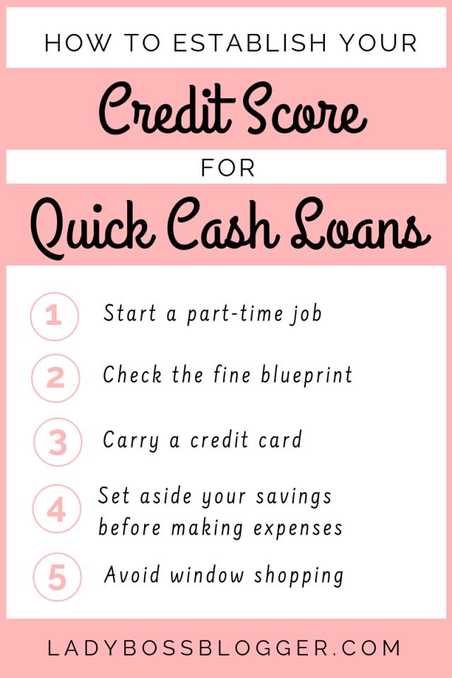 How To Establish Your Credit Score For Quick Cash Loans