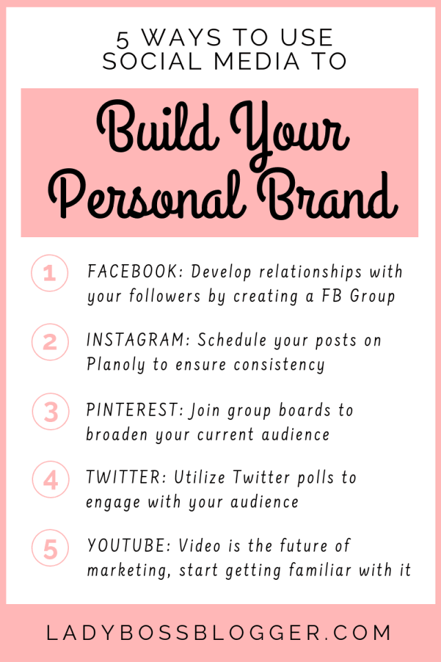 5 Ways To Use Social Media To Build Your Personal Brand