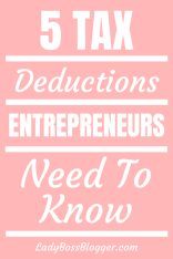 tax deductions for entrepreneurs