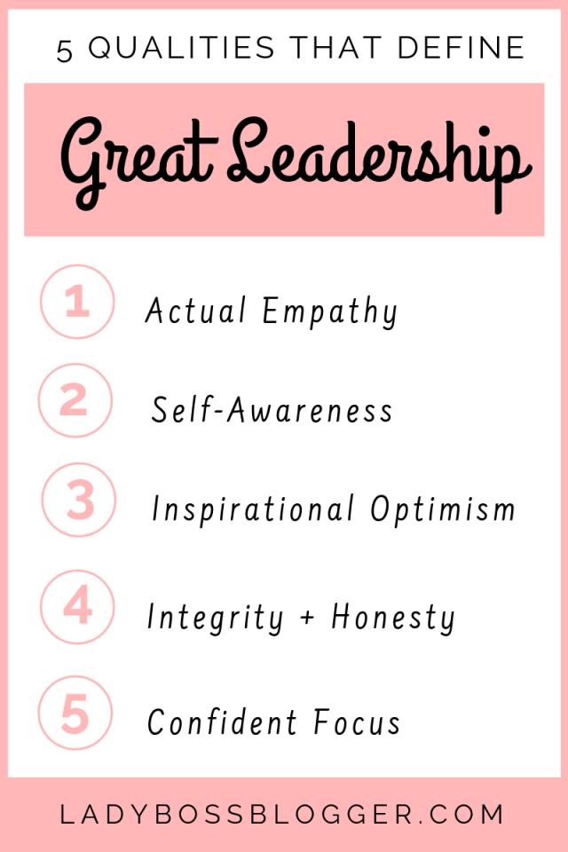 5 Qualities That Define Great Leadership