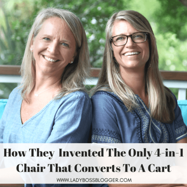 Julie & Stacey Invented The Only 4-in-1 Chair That Converts To A Cart