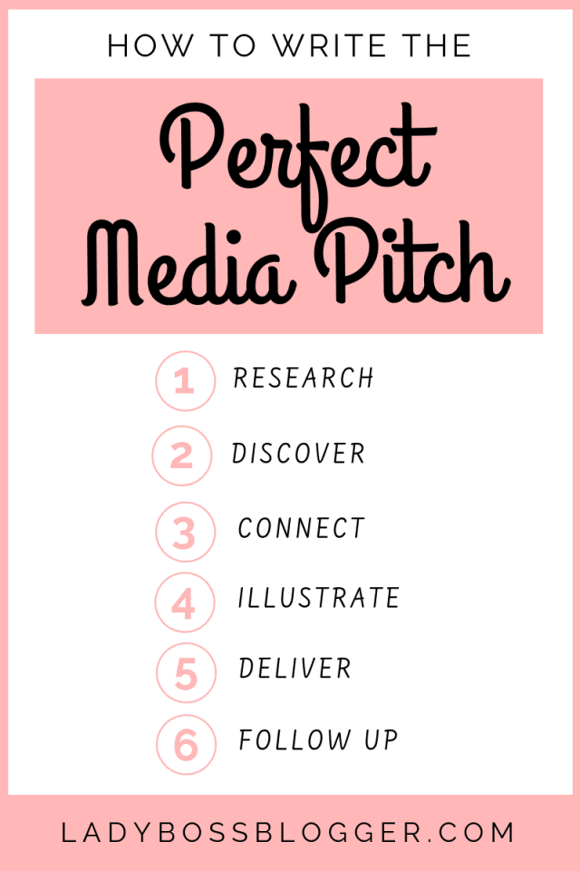 How To Write The Perfect Media Pitch LadyBossBlogger.com