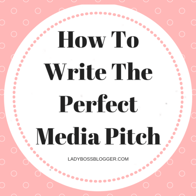 How To Write The Perfect Media Pitch