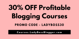 30% OFF Profitable Blogging Courses (1)