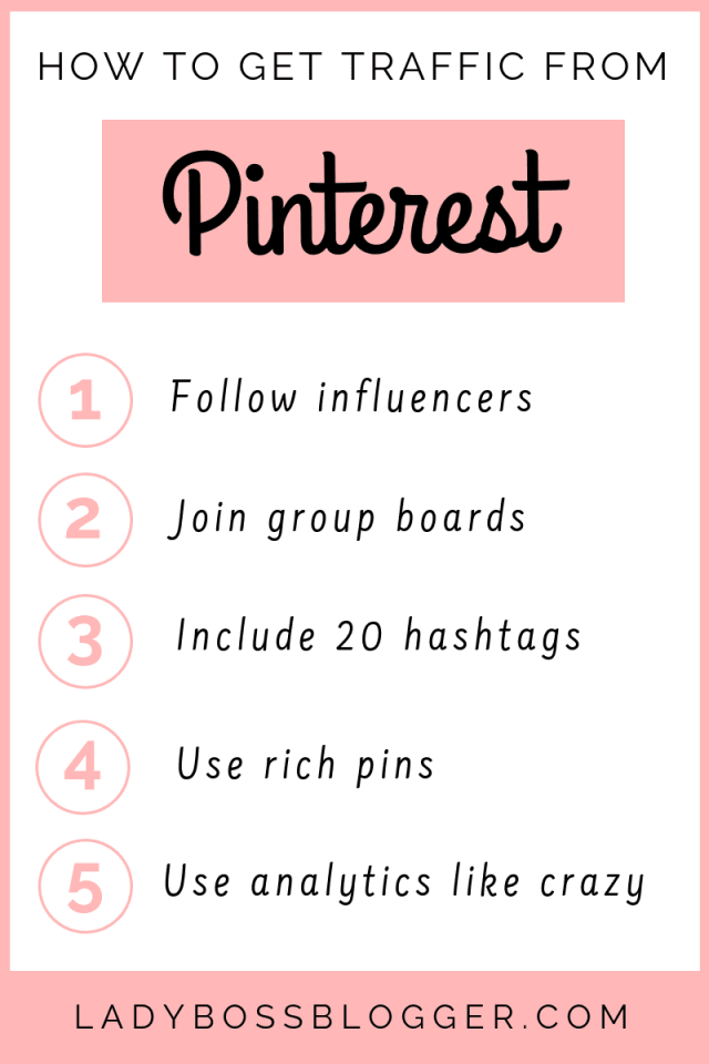 How To Get Traffic From Pinterest LadyBossBlogger.com