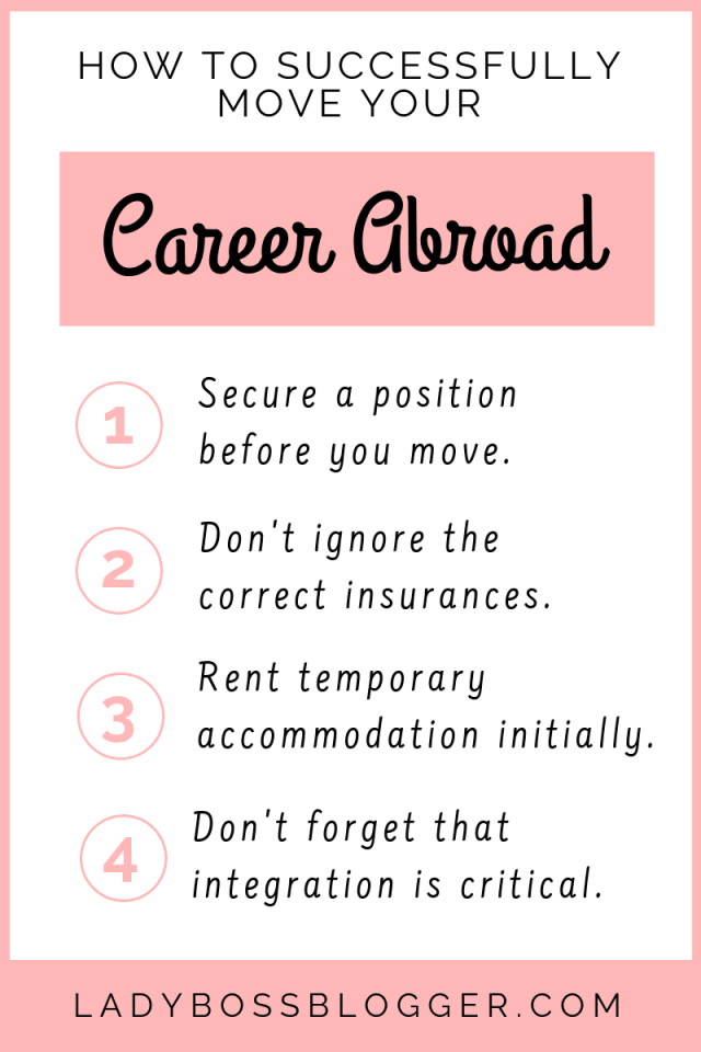 How To Successfully Move Your Career Abroad LadyBossBlogger.com