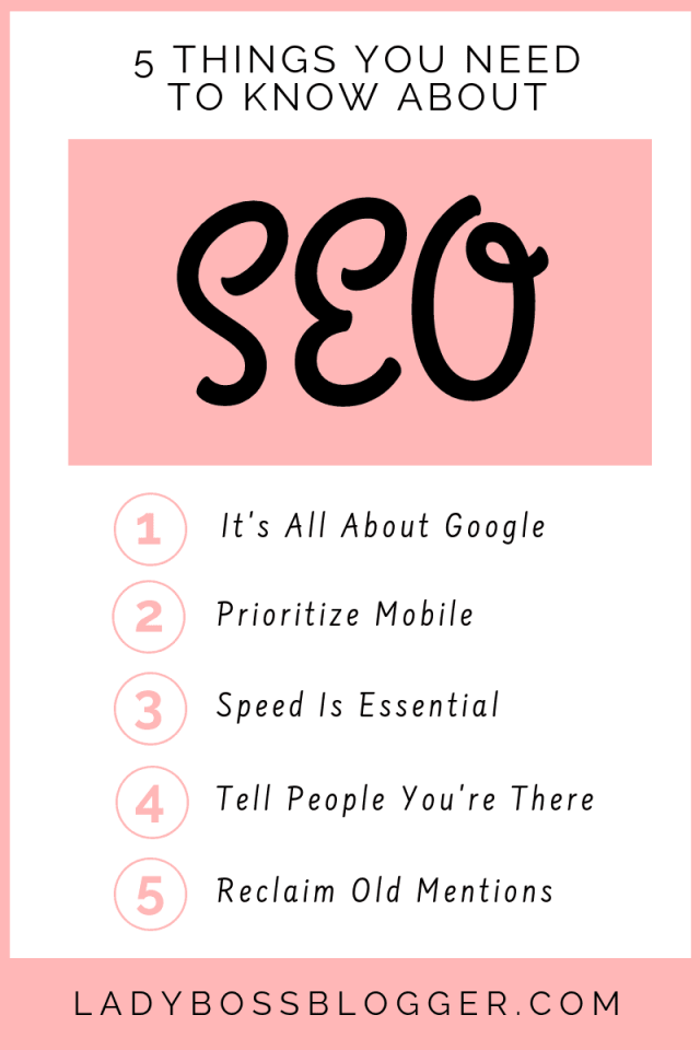 5 Things You Need To Know About SEO