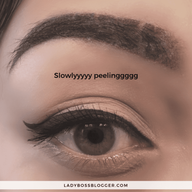 healing process of ombre powder brow