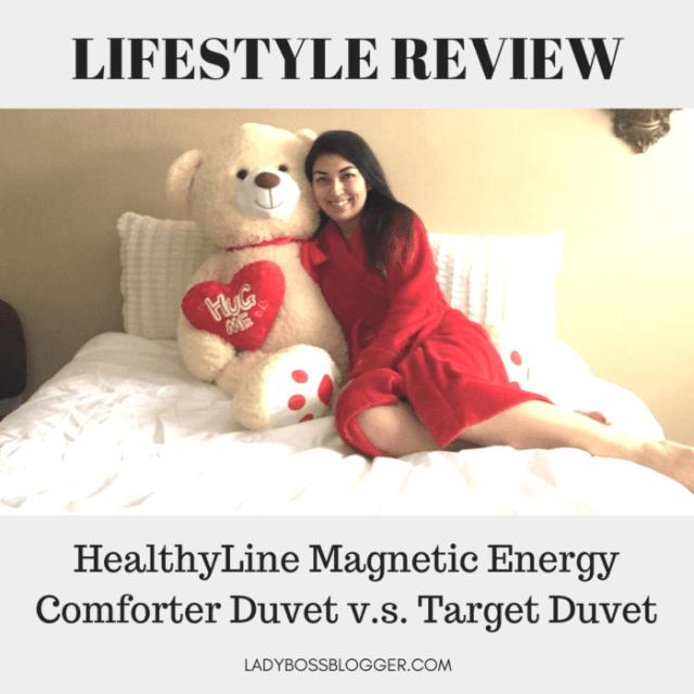 HealthyLine Energy Duvet v.s. Target Duvet ladybossblogger elaine rau