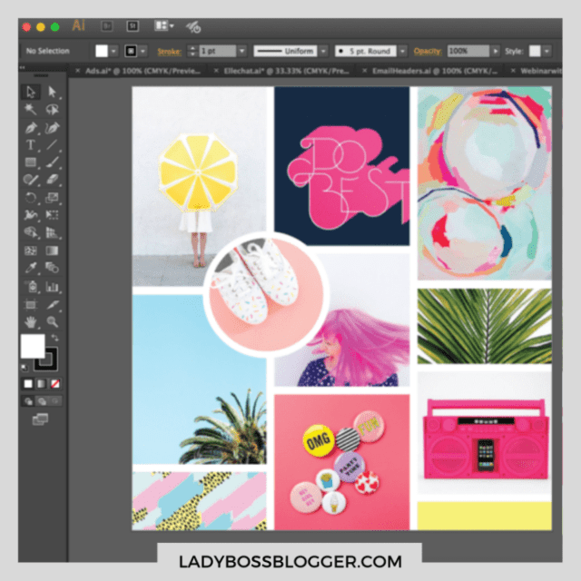 Adobe Illustrator example ladybossblogger