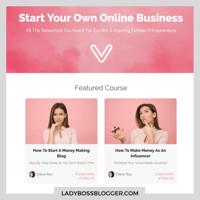 how to become an influencer ladybossblogger courses