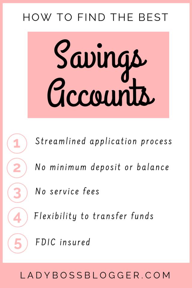 How To Find The Best Savings Accounts Elaine Rau LadyBossBlogger.com