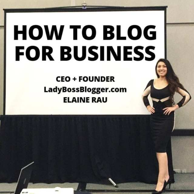 speaker elaine rau how to blog for business