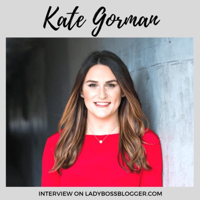 Kate Gorman interview on ladybossblogger