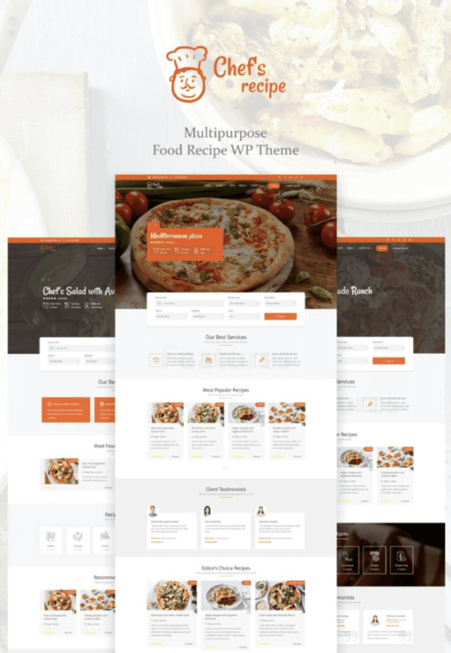 Chef's Recipe WordPress Themes for blogs