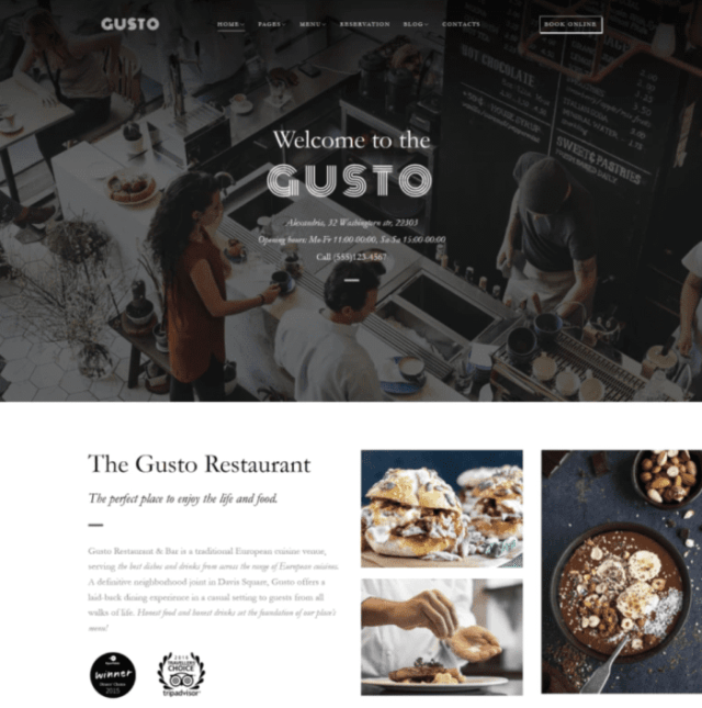 Gusto WordPress Themes for blogs