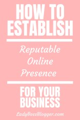 Reputable Online Presence