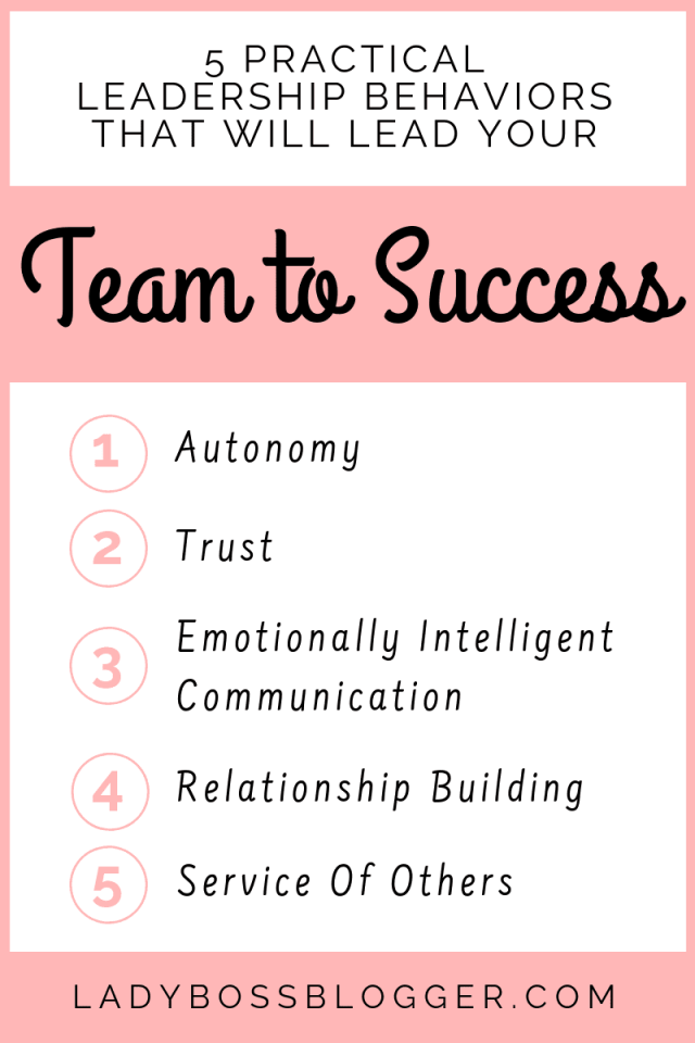 practical leadership behaviors