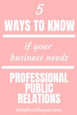 Professional Public Relations