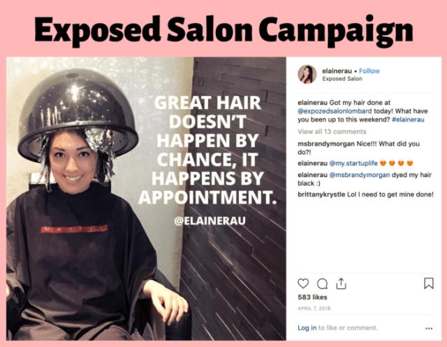 hair salon influencer campaigns by Elaine Rau