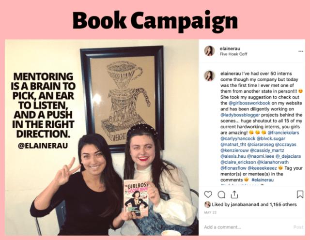 Influencer Campaign Elaine Rau GirlBoss book