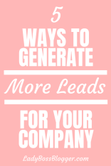 Generate More Leads